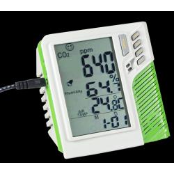 Medidor de CO2 de Mesa com Termo-Higrômetro - AK766