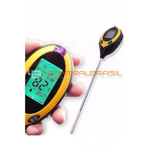 Medidor de pH Digital para Solo com 4 funções