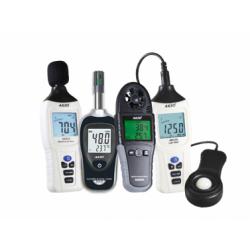 Kit Segurança do Trabalho - Decibelímetro Digital (AK820) + Termo-Higrômetro Portátil (AK632) + Termoanemômetro Digital (AK800A) + Luxímetro Digital (AK310)